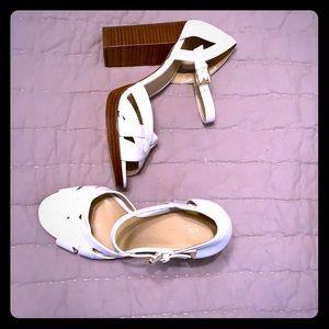 White Michael Kors platform sandals